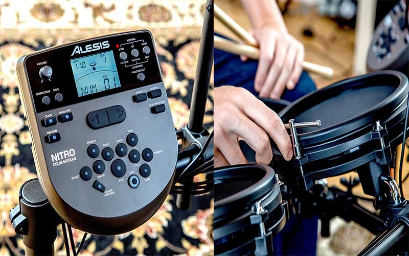 Cojunto Bateria Electronica Compacta digital Alesis Nitro Mesh Kit