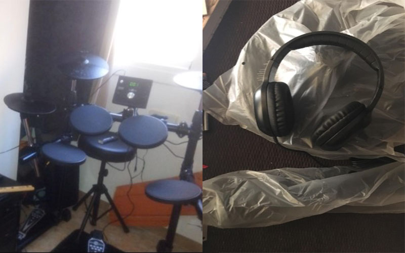 Cojunto Bateria Electronica Compacta Digital Drums 400