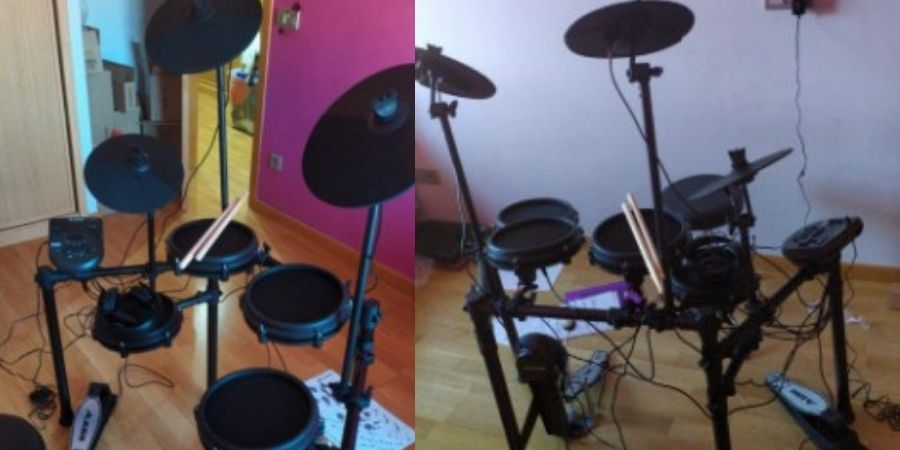 tambor electronico alesis nitro mesh kit en habitaciones pequeñas