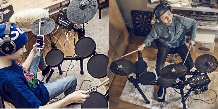 La Yamaha DTX402Ideal para aquellos que inician con la percusión