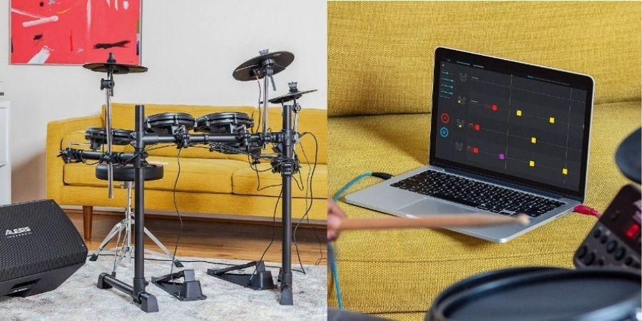 tambor musical alesis turbo mesh kit permite conectarse a PC