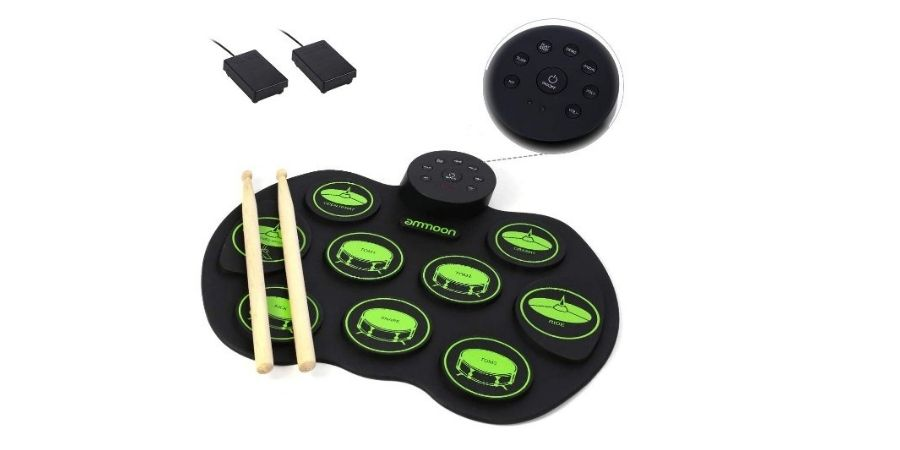 tambor ammoon digital incluye pedales y baquetas