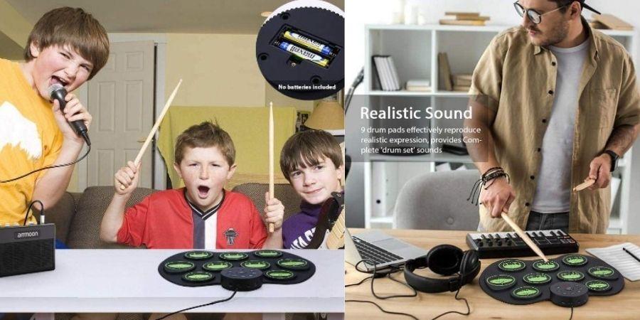 bateria digital de ammoon tocada por niños y jovenes
