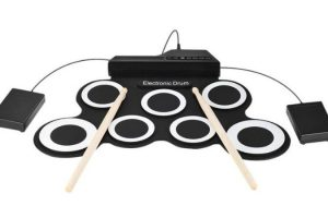 bateria acustica digital electronica ammoon roll up