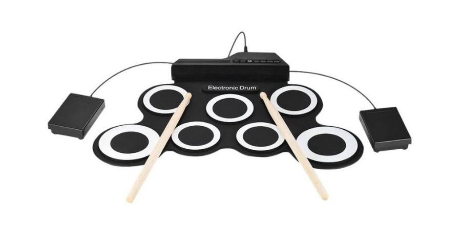 bateria acustica digital electronica ammoon roll up
