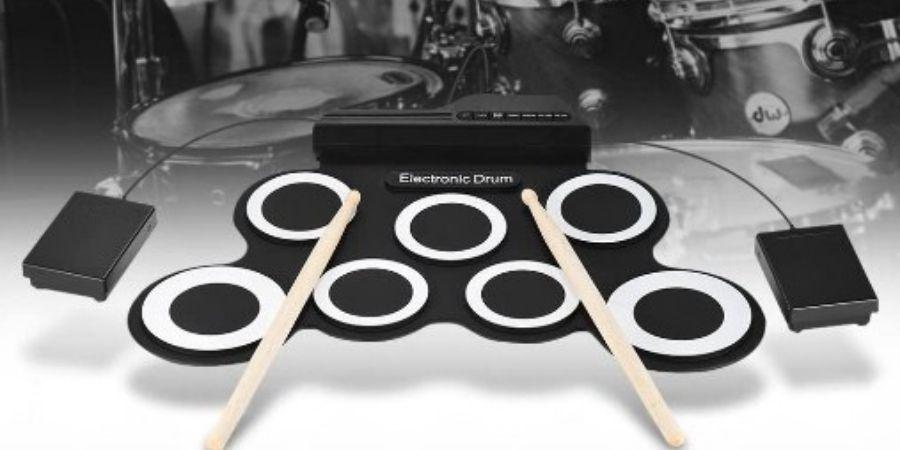 toca musica con la bateria ammoon roll up plegable