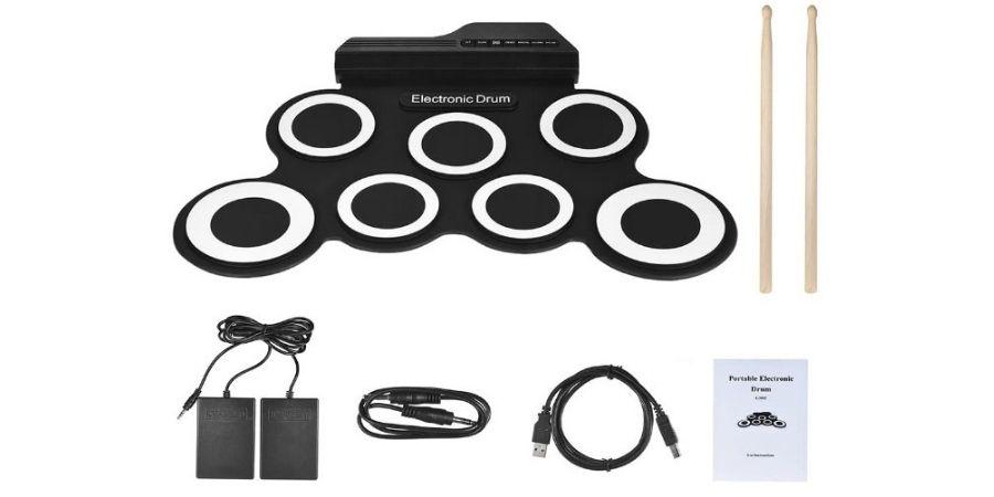 accesorios del tambor electronico digital roll up drum portatil