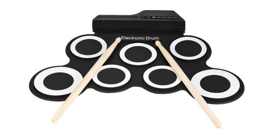 bateria digital electronica ammoon roll up drum