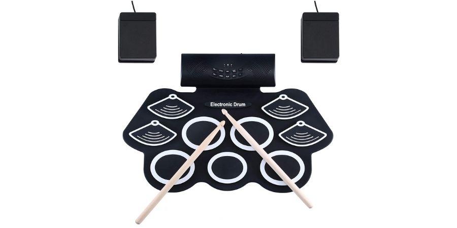 Juego de Batería Electrónica Asmuse Drum Kit Rolling up