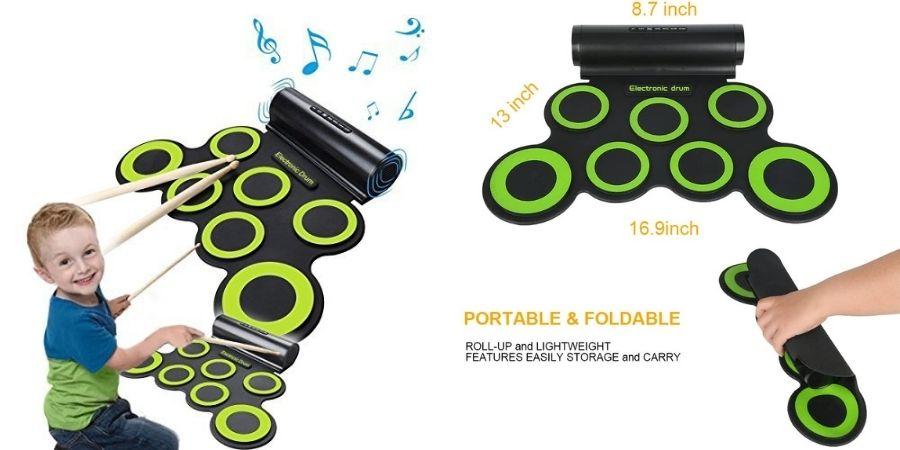 Medidas del Juego de Batería Musical Toneseas