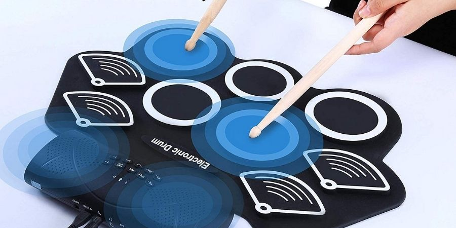 Almohadillas sensibles del la batería eléctrica Drum kit rolling up de Asmuse