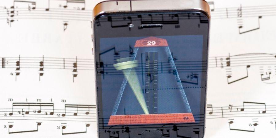 Metrónomo móvil de batería digital