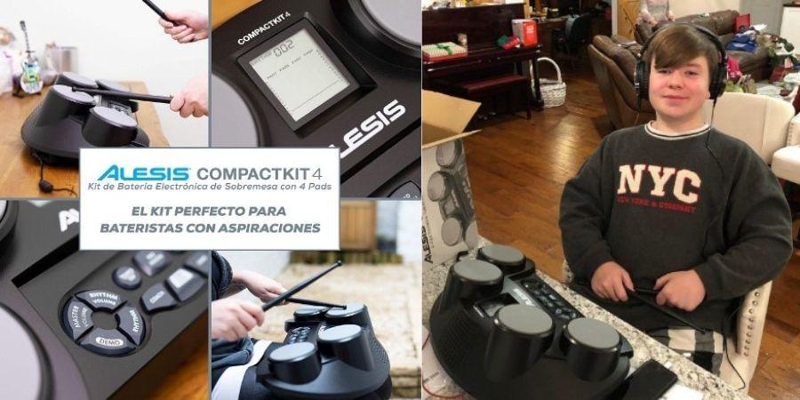 tambor portatil alesis compact kit 4 para niños y jovenes
