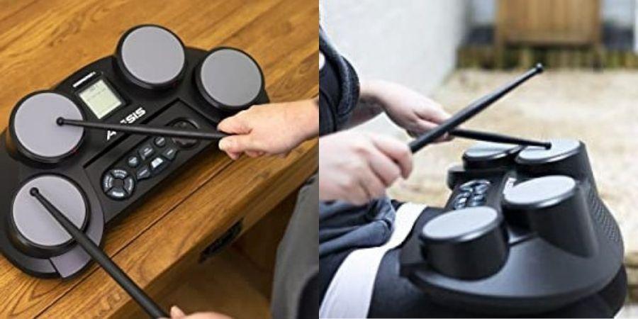 bateria electronica alesis compactkit 4 tocando con baquetas